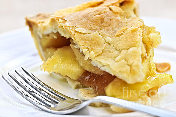 Pie Photograph - Slice Of Apple Pie by Elena Elisseeva