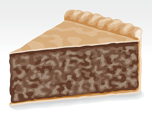 Slice Of Meat Pie Drawing by Bortonia