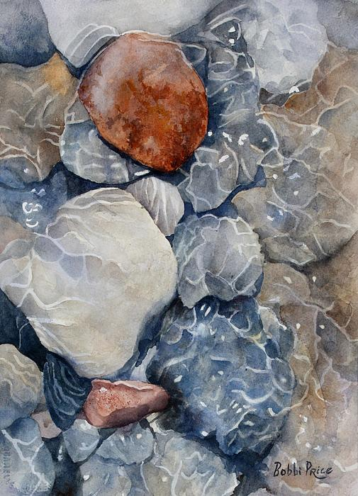 Watercolor Painting - Slippery When Wet by Bobbi Price