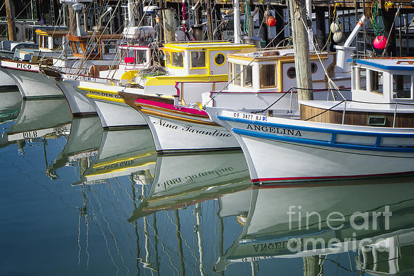 Fishing Photograph - Small Fishing Boats Of San Francisco  by George Oze