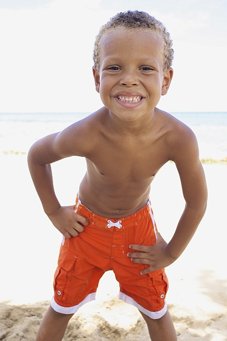 Beach Photograph - Smiling Boy On Beach by Kicka Witte