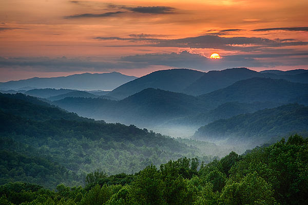 Great Smoky Mountains National Park Photograph - Smokey Awakening by Christopher Mobley