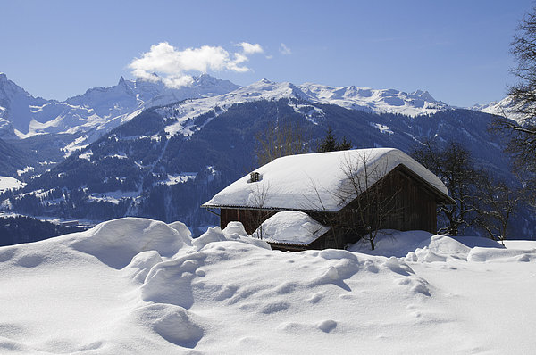 Winter Photograph - Snow-covered House In The Mountains In Winter by Matthias Hauser