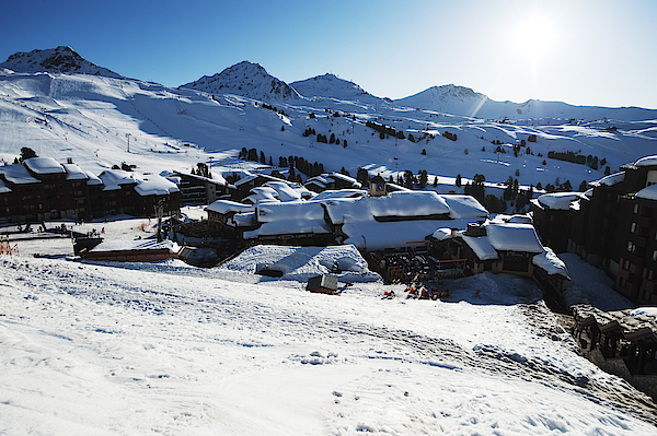 Snow Covered Rooftops At Belle Plagne Photograph by Malcolm Park
