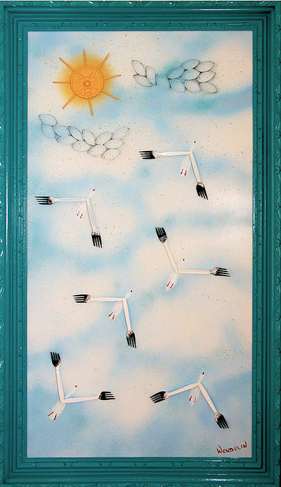 Abstract Relief - Snow Geese Return by Crush Creations