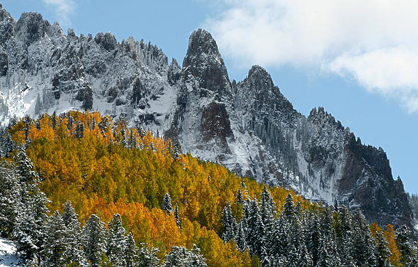 San Photograph - Snow On The San Juan Mountains In Autumn by Jetson Nguyen