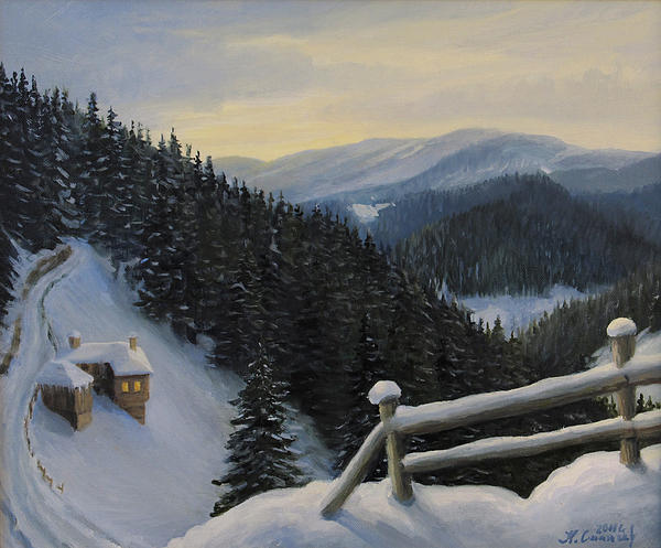 Artistic Painting - Snowy Fairytale by Kiril Stanchev