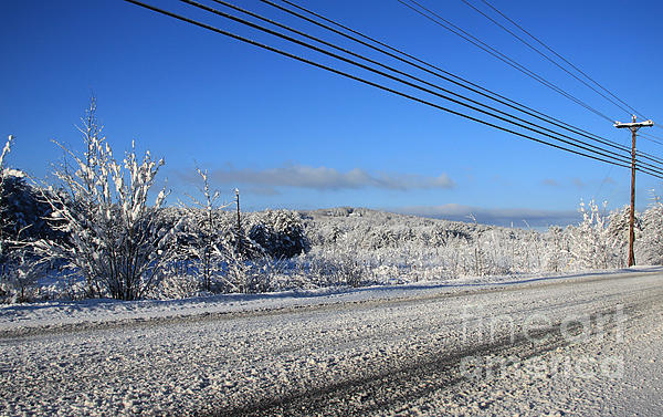 Snowy Roads Photograph - Snowy Roads by Michael Mooney