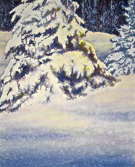 Watercolor Painting - Softly Comes The Morning by Carolyn Rosenberger