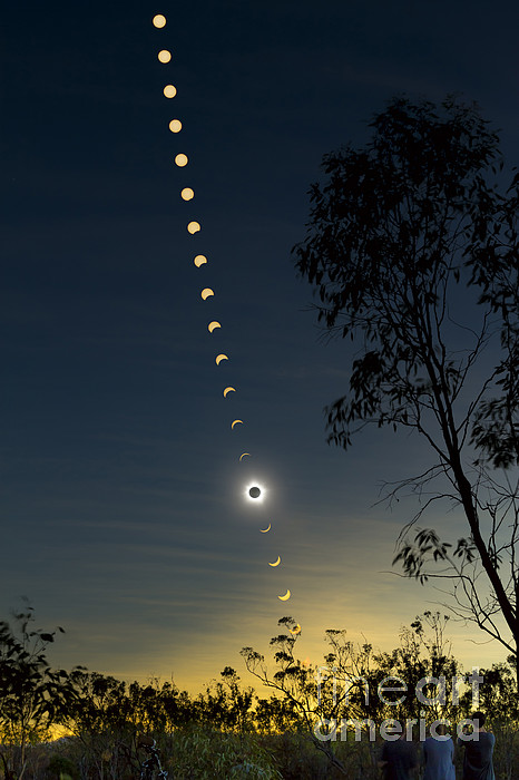 Eclipse Photograph - Solar Eclipse Composite, Queensland by Philip Hart