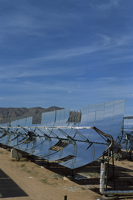 Solar Powered Reflective Mirrors , Daggett , California Photograph by Comstock Images