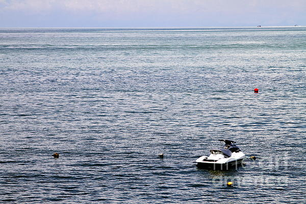 Solitary Photograph - Solitary Speedboat by Donald Chen