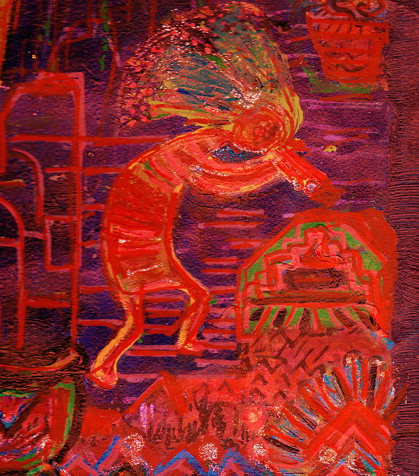 Kokopelli Painting - Some Like Kokopelli Hot by Anne-Elizabeth Whiteway