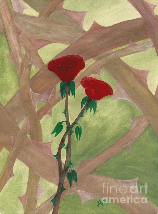 Roses Painting - Something Simple by Robert Meszaros