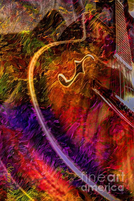 Acoustic Photograph - Song And Dance Digital Guitar Art By Steven Langston by Steven Lebron Langston