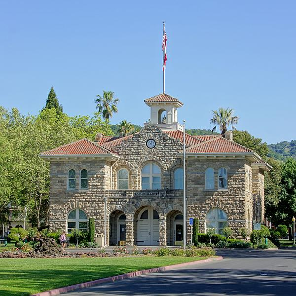 Sonoma California Photograph - Sonoma City Hall by Jenny Hudson