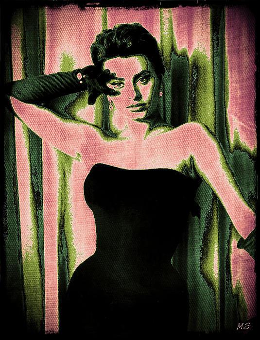 Sophia Loren Digital Art - Sophia Loren - Pink Pop Art by Absinthe Art By Michelle LeAnn Scott