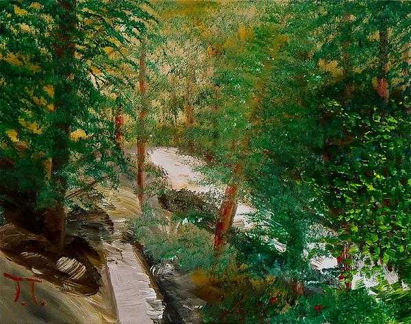 South Trail Cache La Poudre Painting by Troy Thomas