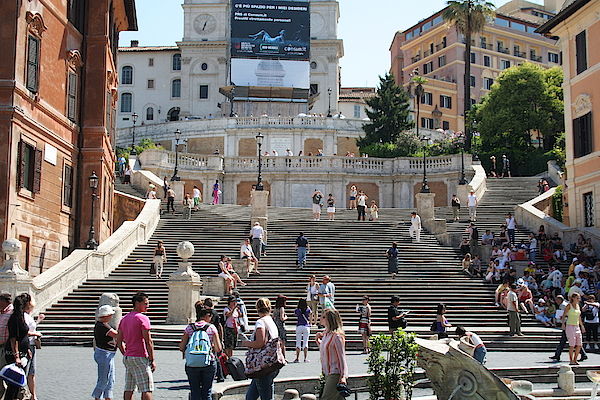 Spanish Steps With People Photograph by Pejft