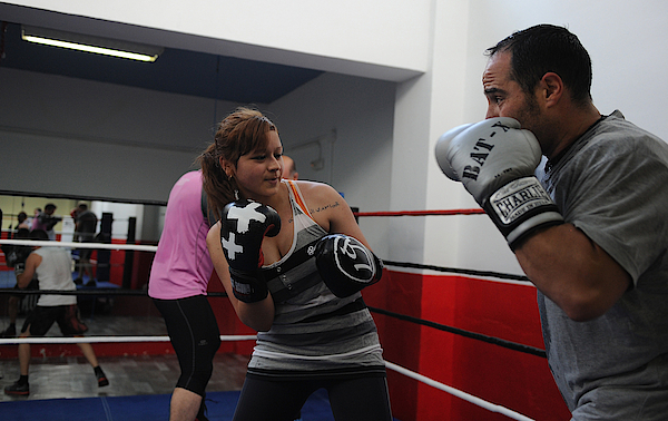 Spanish Women Take Up The Traditionally Male Sport Of Boxing Photograph by Denis Doyle
