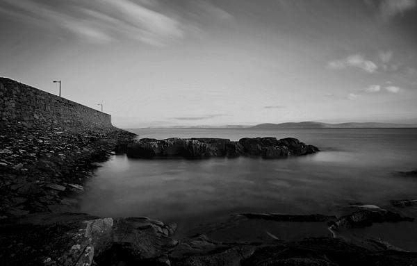 Spiddal Pier Galway  B&w Long Photograph - Spiddal Pier by Peter Skelton