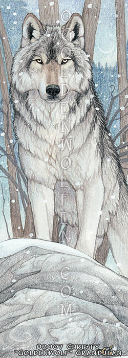 Wolf Mixed Media - Spirit Of The Wolf by Christy Grandjean