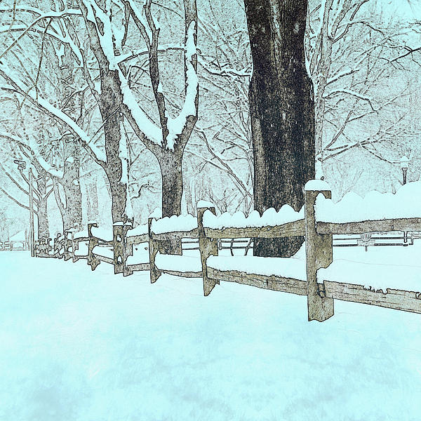 Fence Photograph - Split Rail Blues by John Stephens