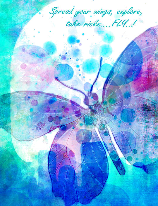 Butterfly Painting - Spread Your Wings by Robin Mead