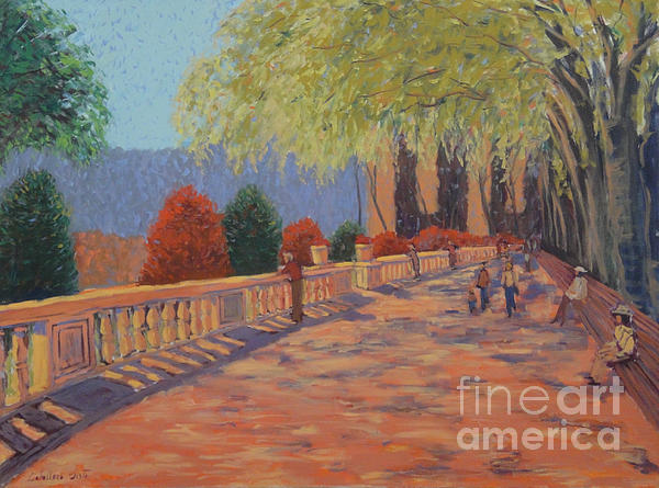 Landscape Painting - Spring Day by Monica Caballero