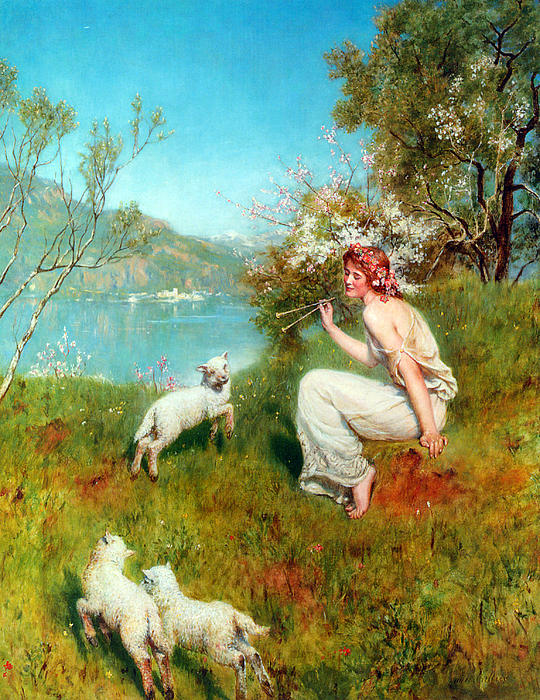 John Collier Digital Art - Spring by John Collier