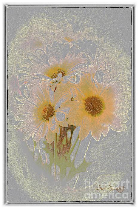 Susan Lipschutz Digital Art - Sprinkled Daisies by Susan  Lipschutz