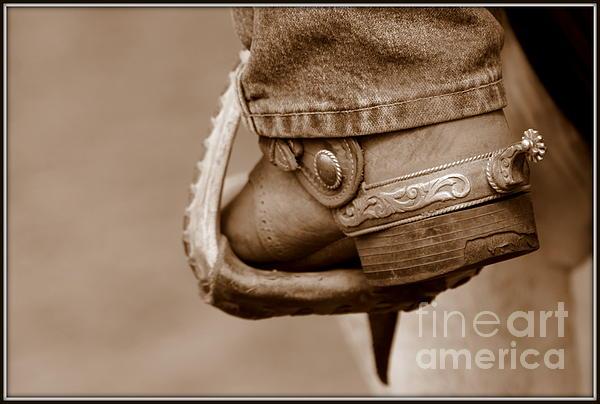 Cowboy Photograph - Spur by Bill Keiran
