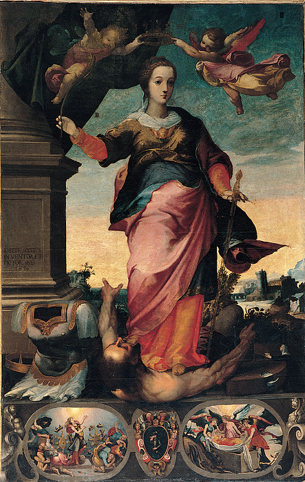 Saint Painting - St Catherine Of Alexandria, 1570 - 1611 by Il Sozzo