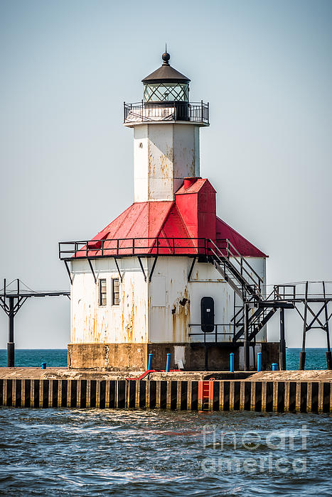 America Photograph - St. Joseph Michigan Lighthouse Picture  by Paul Velgos