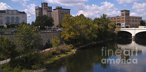 South Bend Photograph - St. Joseph River Panorama by Anna Lisa Yoder