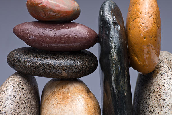 Pebble Photograph - Stacked Stones 2 by Steve Gadomski