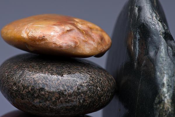 Pebble Photograph - Stacked Stones 3 by Steve Gadomski