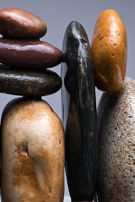 Pebble Photograph - Stacked Stones 4 by Steve Gadomski