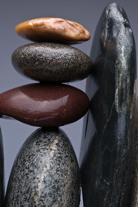 Pebble Photograph - Stacked Stones 5 by Steve Gadomski