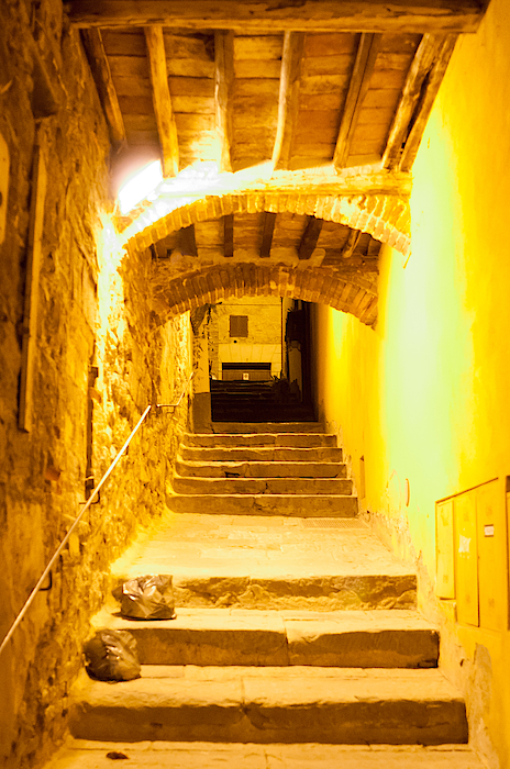Stairs In Montepulciano At Night Photograph by Jakob Montrasio