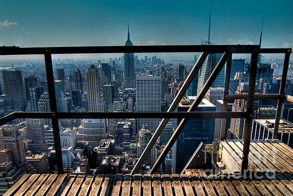 Aerial View Photograph - Stairways On Top Of Rockefeller Center by Amy Cicconi