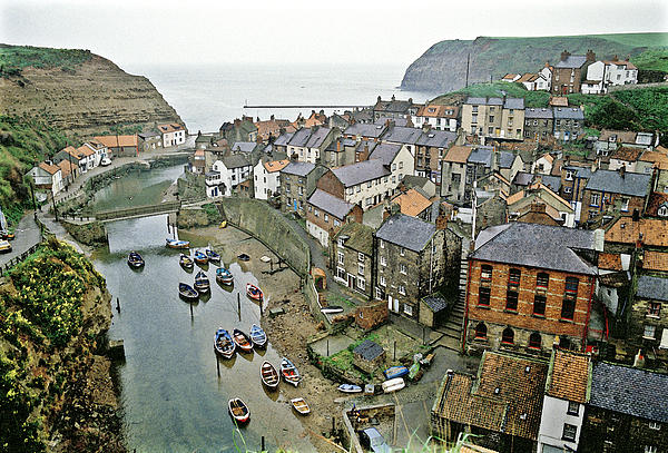 Harbour Photograph - Staithes Yorkshire Uk 1980s by David Davies
