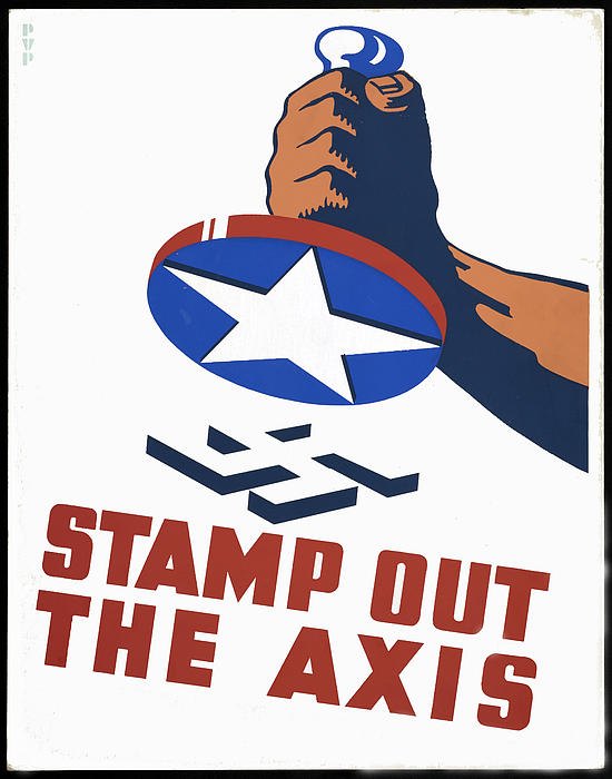 Axis Digital Art - Stamp Out The Axis by Unknown