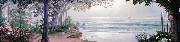Original Painting - Stanchion Homage To Shuberts Sarenade by Loren Adams