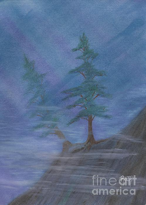 Mist Painting - Standing Alone by Robert Meszaros