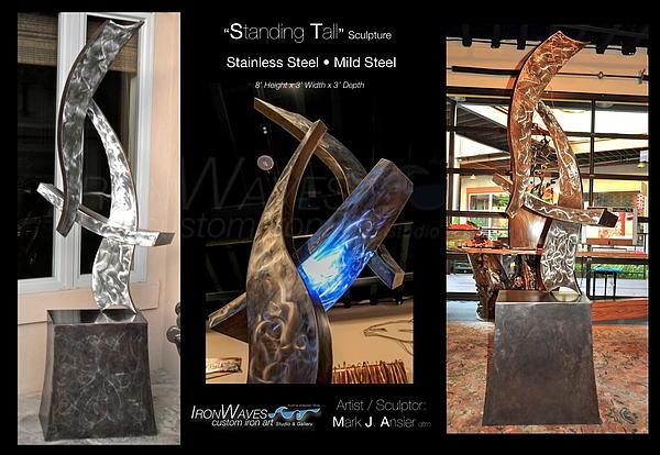 Brochure Sculpture - Standing Tall by Mark Ansier