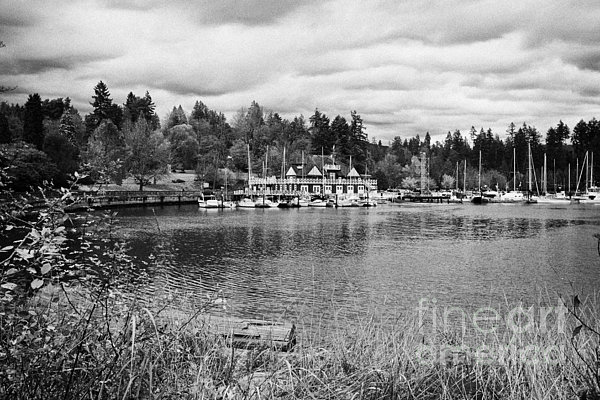 Stanley Photograph - stanley park coal harbour and Vancouver rowing club marina BC Canada by Joe Fox