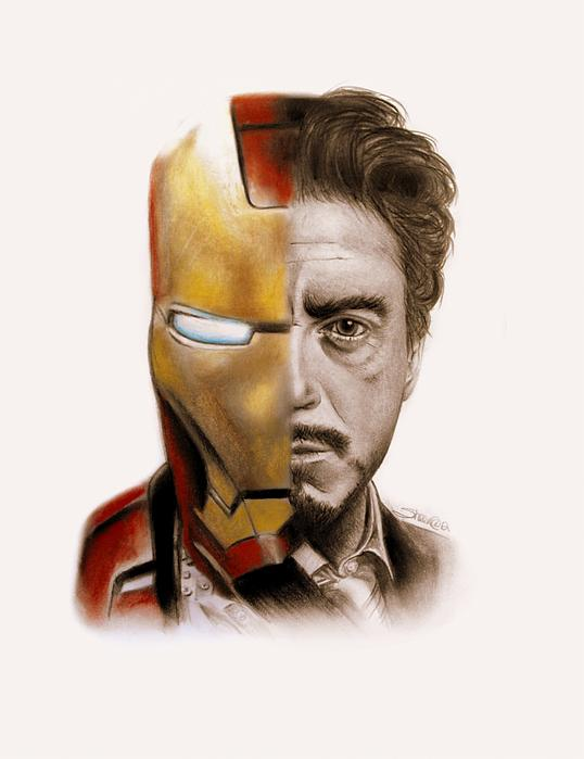 Stark Drawing - Stark  by Sheena Pike
