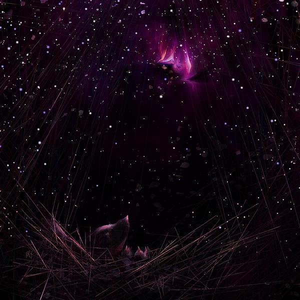 Night Digital Art - Starry Starry Night by Rachel Christine Nowicki