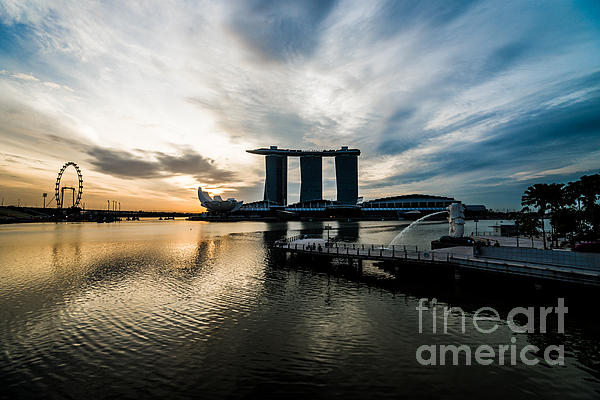 Singapore Photograph - Start A Day by Yoo Seok Lee